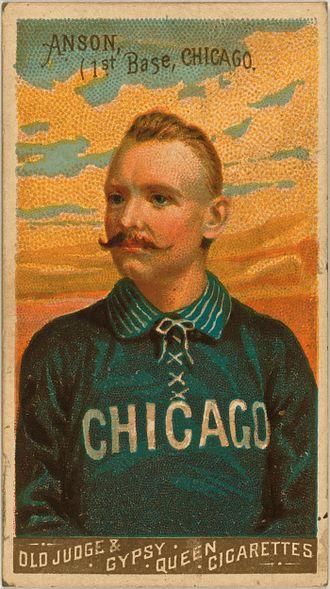 Cap Anson - Cap Anson baseball card (N162), 1888.