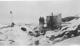 Bouvet Island - The first hut, built on Kapp Circoncision, in 1929.