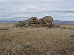 Painted Rock (San Luis Obispo County, California) - View north to Soda Lake.