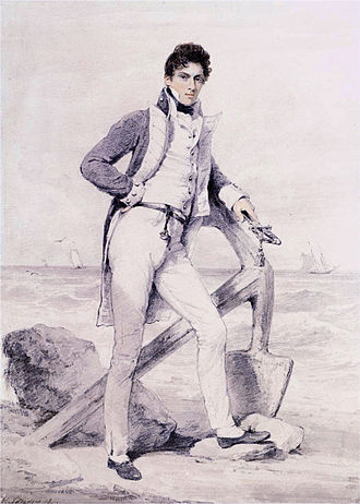 William Hoste - Image: Captain Hoste of HMS Amphion by Henry Edridge (London 1768 1821)