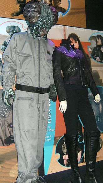 Planet of the Dead - The Tritovores and the costume of Lady Christina at the Doctor Who Experience.