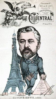 Caricature Gustave Eiffel