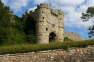 History of the Isle of Wight - 15th century gatehouse of Carisbrooke Castle
