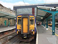Carlisle - Abellio 156490 and FTPE 350403-350406.JPG