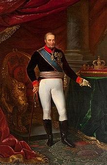 King Francesco I, who gave his personal approval to Bellini's Bianca e Gernando (Source: Wikimedia)