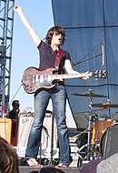 Carrie Brownstein, performing with Sleater-Kinney in 2005