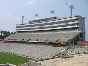 Press box - The massive press box at Carter–Finley Stadium