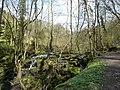 Cascade from a small dam - geograph.org.uk - 1803118.jpg