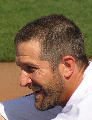 Casey Blake - Image: Casey Blake in Dodgers Dugout (2010)