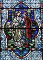 Cathedral Church of Saint Patrick (Charlotte, North Carolina) - stained glass, Christ and the rich young man.JPG