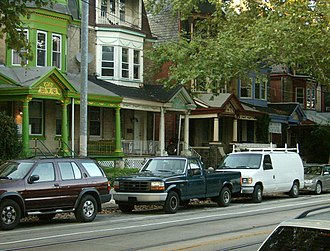 Cedar Park, Philadelphia - Image: Cedar park porches