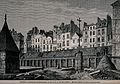 Cemetery of the Innocents in Paris. Wood engraving. Wellcome V0042399.jpg
