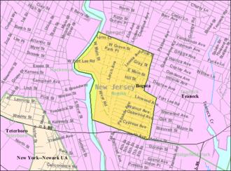 Bogota, New Jersey - Image: Census Bureau map of Bogota, New Jersey
