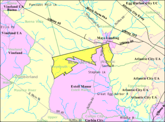 Weymouth Township, New Jersey - Image: Census Bureau map of Weymouth Township, New Jersey