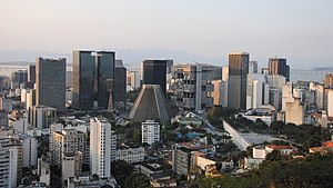 Economy of Brazil - Central business district of Rio de Janeiro.