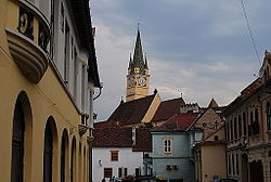 Saint Margaret Church in the historical city centre