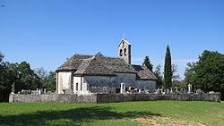 Cerkev svetega Tomaža Stomaž Sežana 1880.jpg