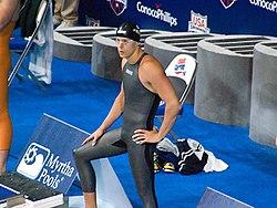 ecbddbbb6b Brazilian swimmer César Cielo wearing the Arena X-Glide swimsuit