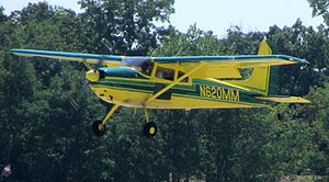 Cessna 180 - 1957 Cessna 180A on landing