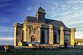 Château de Biron, élévation E.-N.E. de la chapelle au soleil levant, commune de Biron, Dordogne, France.jpg
