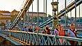 Chain Bridge with people. Budapest (8130471052).jpg