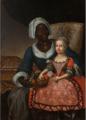 Chanteloub, Portrait de Marie-Anne Grellier dans les bras de sa nourrice.png