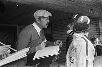 Graham Hill - Hill and Colin Chapman at the 1967 Dutch Grand Prix.
