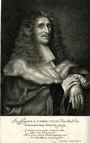 Charles Patin - Charles Patin by Antoine Masson, 1685