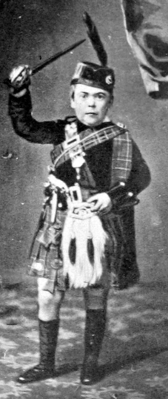 "Midget - Charles Sherwood Stratton as ""General Tom Thumb"", circa 1861"