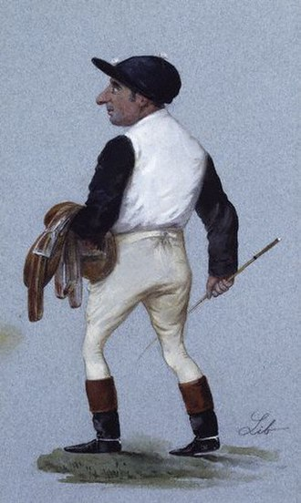 Charles Wood (jockey) - Caricature of Charles Wood from Vanity Fair, 22 May 1886