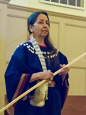 """Charmaine White Face - Charmaine White Face, teacher, activist, and elder of the Oglala Sioux Nation does her presentation, """"America's Chernobyl"""" - the facts about the 3,272 abandoned open pit uranium mines in the Great Sioux Territory - on a 10-day tour on the East Coast, 2013"""