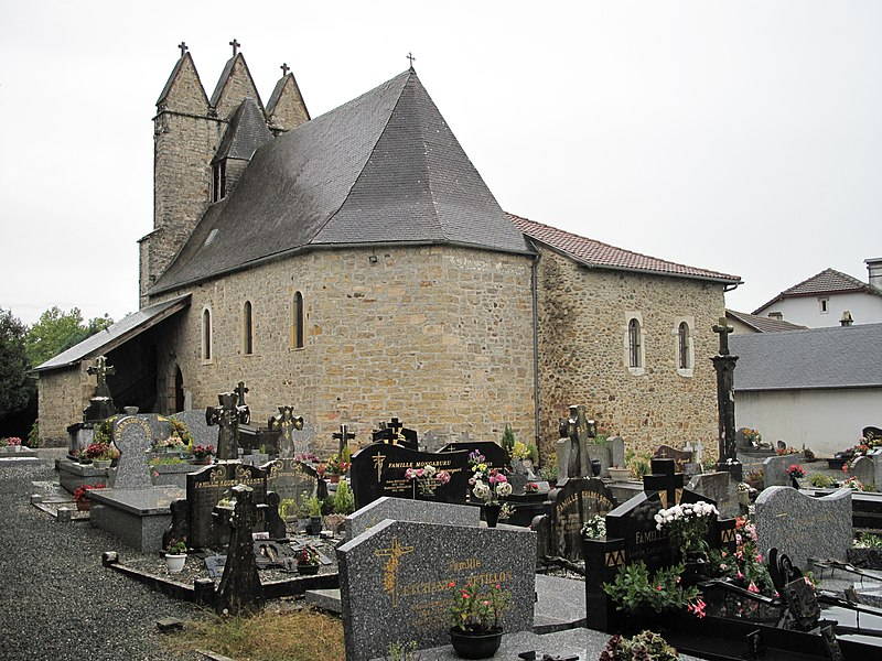 The church and the cemetery of Charritte, Pyrénées-Atlantiques, France