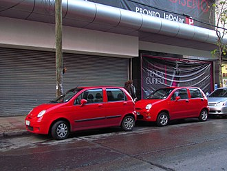 Chery QQ3 - The Chevrolet Matiz/Spark (left) and the Chery QQ (right); the design of QQ is a copy of the original Matiz/Spark