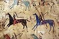 Cheyenne (tsitsistas), coperta di teepee dipinta con registro vittorie della società dei guerrieri dell'elkhorn scrapers, montana o wyoming, 1870 ca. 02.jpg
