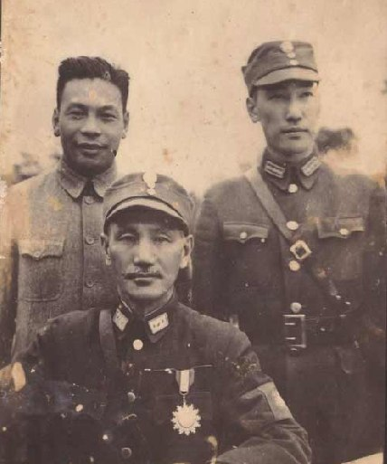 Chiang Kai-shek with two sons
