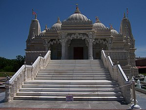 Image of the BAPS Mandir (or Hindu temple) in ...