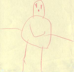Child Art Aged 4.5 Person 1