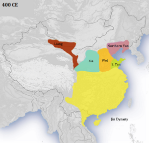 History of the Jin dynasty (265–420) - China c. 400 CE.