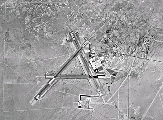 Naval Air Weapons Station China Lake - USGS orthographic image showing the main runways at NAWS China Lake