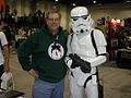 Christopher Moeller at San Diego Comicon, 2005, with Stormtrooper.jpg