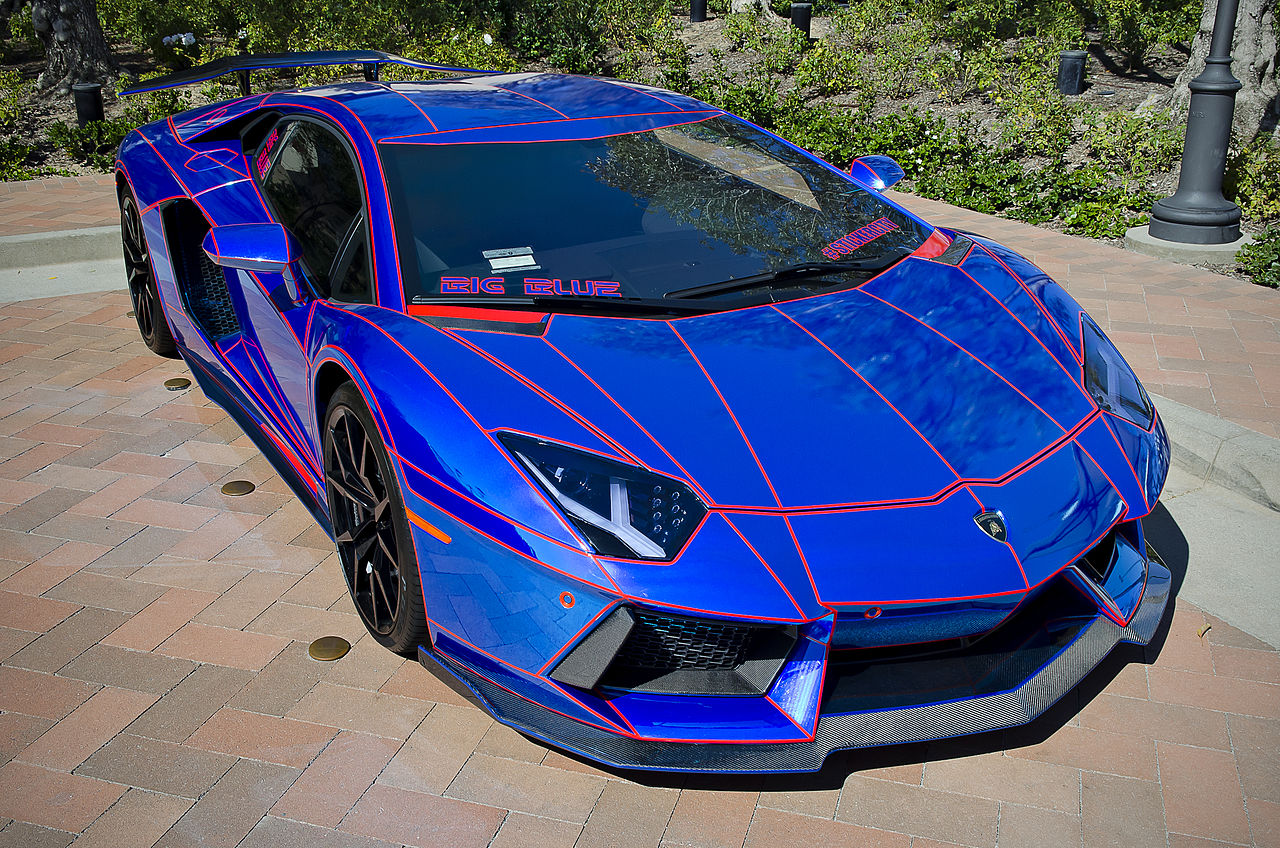 File Chrome Blue Lamborghini Aventador Aka Big Blue 14056307182