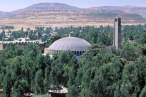 Axum - Dome and Belltower of the Church of Our Lady Mary of Zion