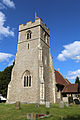 Church of St Christopher, Willingale, Essex, England - exterior tower from southwest.JPG