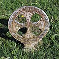 Church of St Mary and St Christopher, Panfield - cast iron grave marker - Elizabeth Hammond.jpg