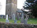 Churchyard of Bow church in Nymet Tracey - geograph.org.uk - 1727131.jpg