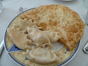 Circassian cuisine - Haliva (Хьэлжъо) and Mataz (Мэтазэ), two of the prominent traditional Adyghe snacks
