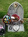 City of London Cemetery modern gravestones 7 deflated balloon and withered flowers.jpg