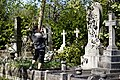 City of London Cemetery photographing Janet Bruce Arthur Mildred Richards monument 1.jpg
