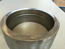 Cladding-Auftragschweißung in einem Rohrstück mit Inconel 625