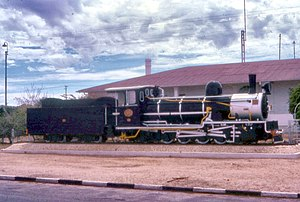 South West African Class Hd - No. 40 plinthed at Usakos, May 1984